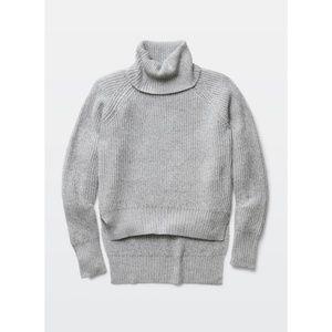 Aritzia Wilfred Free Turtleneck Grey Lin Sweater